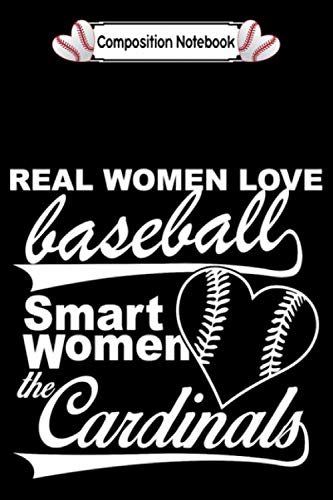 Composition notebook: baseball real women love baseball smart women CollegeRuled 6x9 100 pages bleed