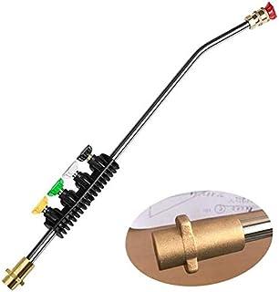 Frunimall Högtryckstvätt förlängningsstång, Högtryckstav förlängningsförmåga sprutpistol med adapter koppar + 5 st sprutmu...