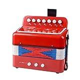 MaylFre 1 Set Niños Mini Acordeón Multi Función De Crianza Infantil Early Learning Juguetes Musicales del Acordeón Instrumento para La Educación De Los Niños De Instrumentos Musicales Red