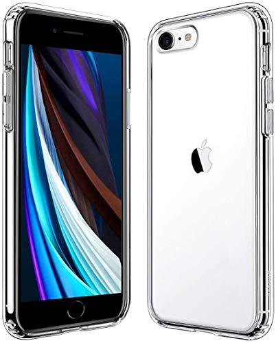 iPhone SE ケース [第2世代] / iPhone8 ケース / iPhone7 ケース 対応 全面クリア 軽量 耐衝撃 すり傷防止 ワイヤレス充電対応 黄変防止TPUカバー アイフォンSE (2020年モデル) / アイフォン8 / アイフォン7 カバー (4.7インチ・クリア)