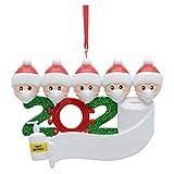 ZOELOVE 2020 Family Ornament, 2020 Christmas Holiday Decorations, Navidad árbol Adornos Familia de árbol Personalizado Adornos Navidad Navidad Navidad Familia (5C)