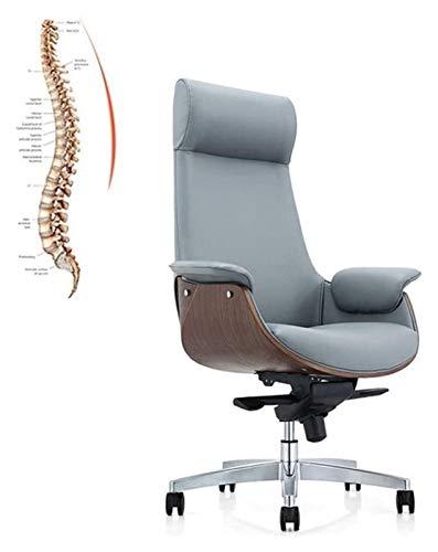 Schreibtischstuhl für Schreibtisch mit Armlehne High Back rotierender Bürostuhl - Designer Chefstuhl PU-leder einstellbarer Hubstuhl Sessel