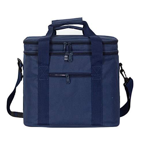 SeeKool 17L Kühltasche Picknicktasche mit 2 Fächern, Verstellbarer Schultergurt,isolierte Lunchtasche Thermotasche für Lebensmitteltransport Büro Arbeit Outdoor Camping Reisen, 33x 20x 27CM