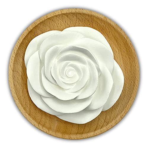 Rose Shaped Ceramic Diffuser, Non Electric, Simply Drop Your Oils onto The Flower for a Subtle Aroma