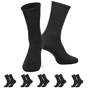PTCL ソックス メンズ ビジネスソックス 100%綿 抗菌防臭 5足組 靴下 全5色 black