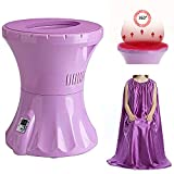 GDFGTH Portable Vaginal Spa Yoni Steam Seat Sitz Bath Alternative V Steam Kit with Yoni Steam Gown Better Results with Longer Consistent Steam Sessions 110V
