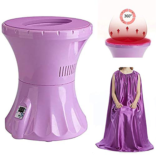 Tehok Portable Vaginal Spa Yoni Steam Seat Sitz Bath Alternative V Steam Kit with Yoni Steam Gown Better Results with Longer Consistent Steam Sessions 110V