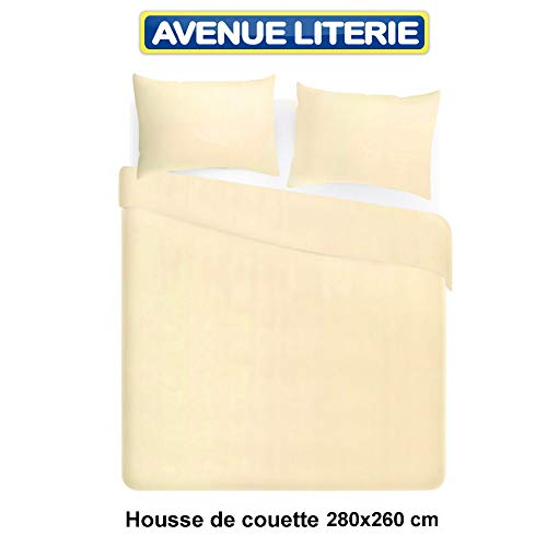 Linens Limited Housse de Couette Easy Care 2 Personnes l 200 x L 200 cm Polycoton Noir