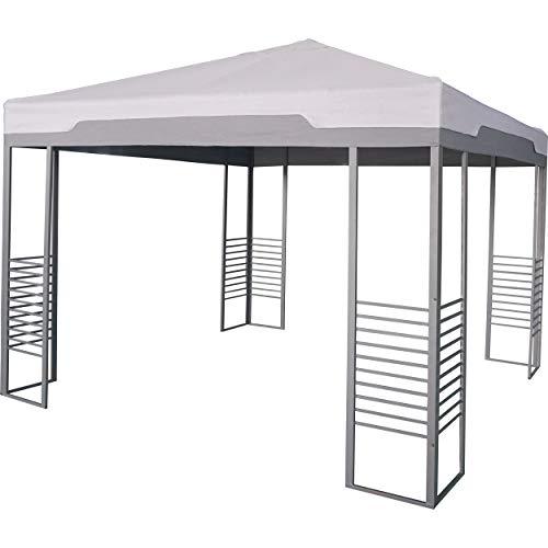 Euromate GmbH Pavillon Rigolet Grau 299 cm x 299 cm | Pavillion im modernen Stil mit flachem, quadratischem Spitzdach