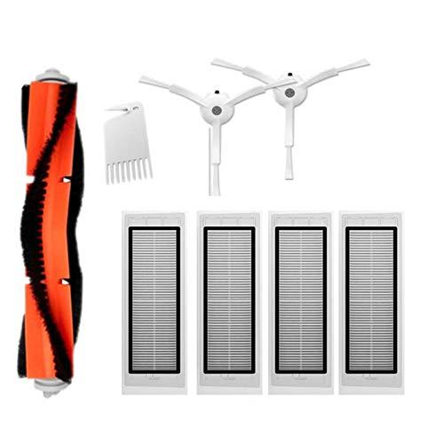 8 stücke HEPA-Filter mit Hauptbürsten und Seitenbürsten für S50 Xiaomi MI Roboter Staubsauger dauerhaft 0327