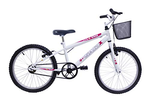 Bicicleta Aro 20 Infantil Feminina Com Cesta Saidx (Branco)