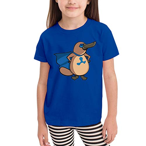 Babe Girl's Short Skirt Ruffled 3D Printed T-Shirt Ferb Platypus Graphic Short Sleeve Teechildren'S T-Shirt 5/6t