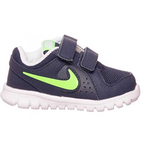 Nike Flex Experience LTR (TDV), Zapatos de Primeros Pasos para Bebés, Negro/Verde/Blanco (Obsidian/Voltage Green-White), 19 1/2