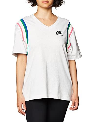 NIKE Camiseta para Mujer NSW Hrtg Birch Heather/Black S