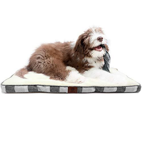 American Kennel Club AKC Medium Stripe Burlap Crate Dog Pet Bed, Gray, 30...