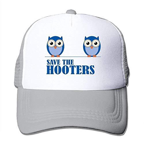 deyhfef Owl Save The Hooters Adjustable Sports Mesh Baseball Caps Trucker Cap Sun Hats Unisex36