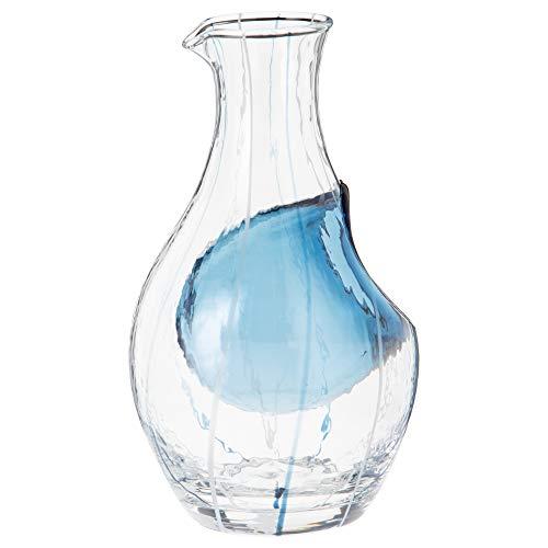 東洋佐々木ガラス徳利冷酒カラフェブルー300ml和がらすハンドメイド日本製61507