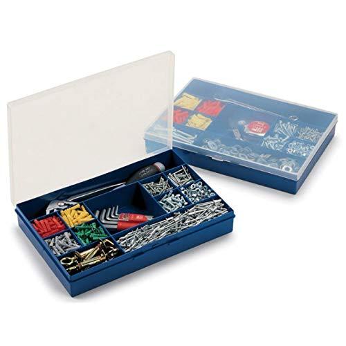 Caja de embalaje MIX F3, fondo azul y tapa transparente