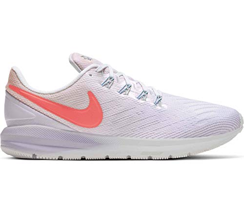 Nike Mujeres Air Zoom Structure 22 Running Trainers CW2640 Sneakers Zapatos (UK 3 US 5.5 EU 36, Washed Coral Magic Ember White 681)