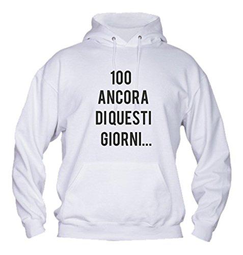 Social Crazy heren sweatshirt met capuchon basic topkwaliteit top pasvorm - 100 Ancora - grappige humor Made in Italy