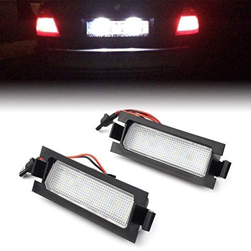 LOVELY Luces de matrícula de Coche 2pcs Licenciadas Licenciadas Luces Lámparas 18SMD LED Compatible con Hyundai I30 5D 2013-2014 y I30 CW GD 2012-UP Universal