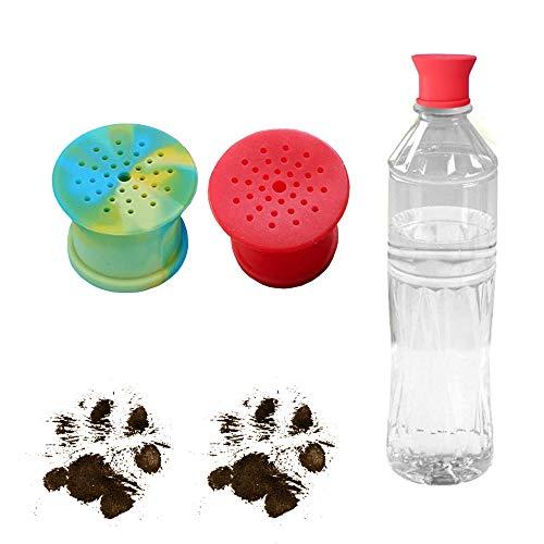 Tragbare Outdoor-Dusche für Hunde | Camping-Dusche für Haustiere | Der Flaschenkopfaufsatz verwandelt jede Plastikwasserflasche in eine tragbare Hundedusche | 2 Stück