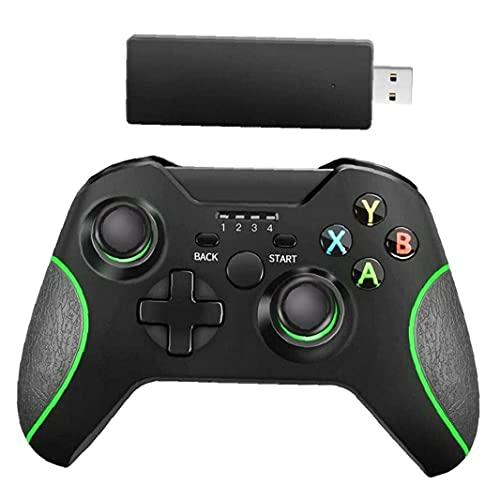 Runfon Gamepad inalámbrico Joypad Joystick Interruptor de Mando a Distancia para Microsoft Xbox One/s/x/e / PS3 / Windows 10 Negro