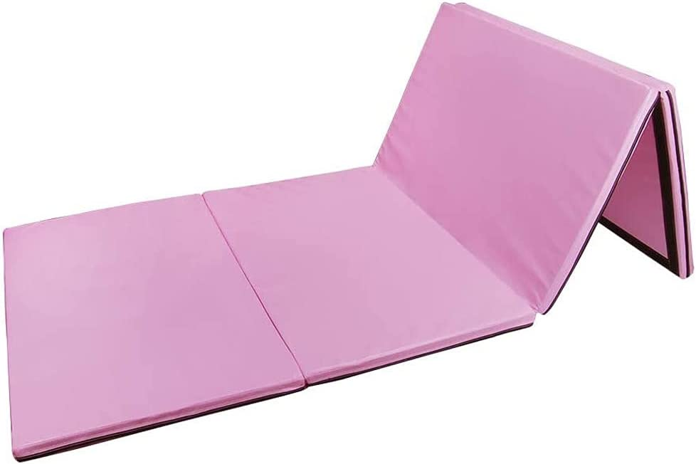 BHJKL 8ft x 4ft 4-Panel Folding In stock with Handl Mat Popular products Carrying Exercise