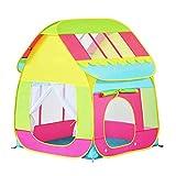AILSAYA Kinderzelt, Spielhaus, Zusammenklappbar, Kinderspiel-pop-up-hausform Campingzelt,...