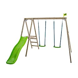 This set has a relatively small footprint but lots of play value great for smaller gardens TP timber is pressure treated with an preservative which penetrates deep into the wood rather than simply being applied to the surface so TP's performance s do...