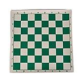 LH's stores Ajedrez 1Pc Tablero de ajedrez del Torneo de Vinilo para Juegos educativos para niños Tablero magnético Verde y Blanco para Damas de ajedrez 34.5 cm Tablero de Ajedrez