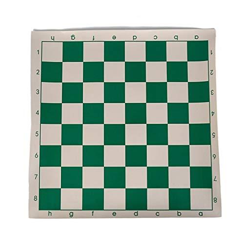 AILI Juegos Tradicionales Ajedrez 1Pc Tablero de ajedrez del Torneo de Vinilo para Juegos educativos para niños Tablero magnético Verde y Blanco para Damas de ajedrez 34.5 cm Juegos de Mesa Ajedrez