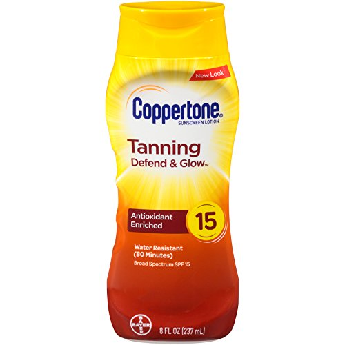 Coppertone Tanning Sunscreen Lotion Broad Spectrum SPF 15 (8 Fluid Ounce) (Packaging may vary)