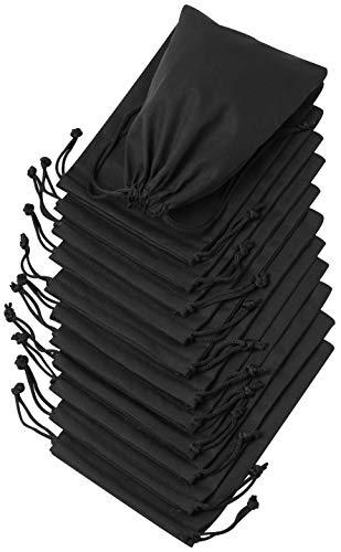 Drawstring Taschen für Organisation, Haushalt, Aufbewahrung, Speisekammer und Geschenke (5 x 7–12 Stück, schwarz)