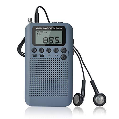 Songway Am/FM Pocket Radio Digital Relojes de Alarma