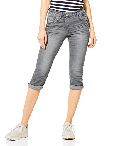 Cecil Damen 372997 Scarlett Jeans, Light Grey Used wash, W30/L22