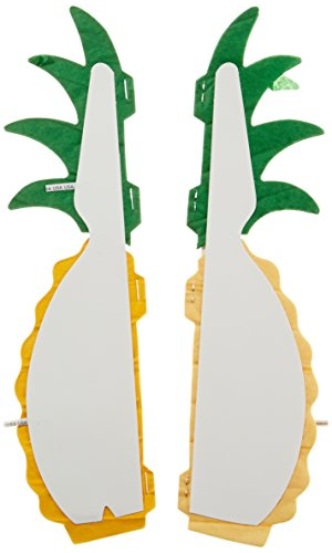 """Beistle 2 Piece Tissue Pineapples Luau Centerpiece Party Decorations, 12"""", Yellow/Green"""