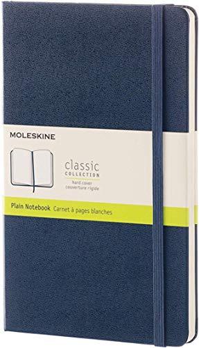 Moleskine notitieboek, groot, A5, blanco, harde kaft, saffier