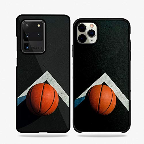 QFUNDAS Fundas De Moviles Carcasas De Moviles Funda Carcasa Modelo Diseños de Deportes, Basket, Baloncesto Compatible con Huawei P8 Lite (2017)