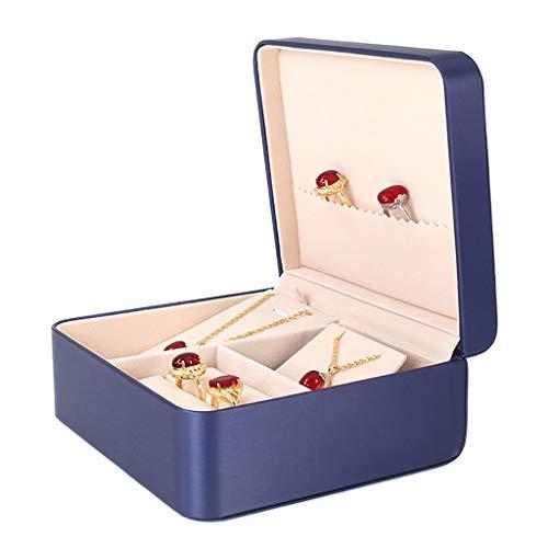 Pequeña caja de joyería de boda organizador de almacenamiento de joyas anillos collar estuche regalo para mujeres (color: D)