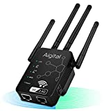 5G WiFi Range Extender, Aigital Dual Band AC1200 Wi-Fi Repeater, Upgraded Wifi Extender Blast Wireless Internet Signal Booster WLAN Network Amplifier for PC Easy Setup Wide Coverage No WiFi Dead Zones
