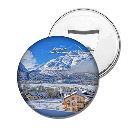 Weekino Schweiz Zermatt Bier Flaschenöffner Kühlschrank Magnet Metall Souvenir Reise Gift