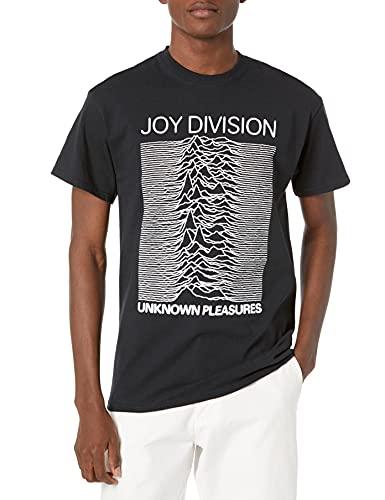 Old Glory, maglietta da uomo, motivo: copertina dell'album Unknown Pleasures dei Joy Division Black S