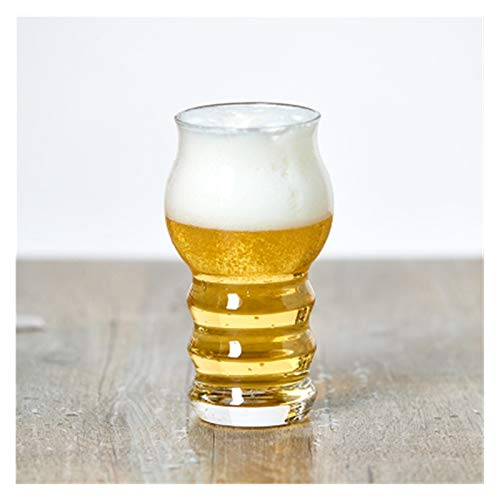 LIZCX YAOQIHAI Copa de Cristal Copa de Vino Cerveza de Copa Copa de Vidrio Bar Club Party Home Glassware Webware Milk Water Copa de Vino Taza Taza de Whisky (Color : 400ml)