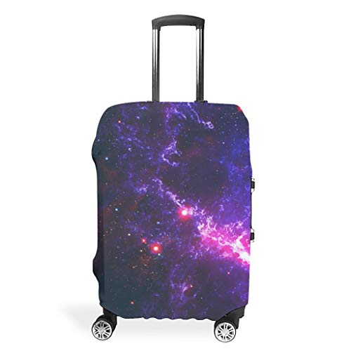 Travel Suitcase Protector – Universe Elastic Suitcase Cover 4 Sizes for Most Luggage, White (White) - BTJC88-scc