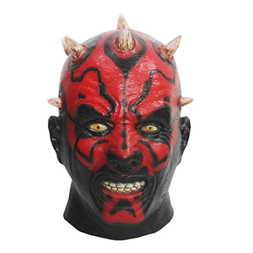 Film Star Wars Darth Maul Maske Kopf voller Deluxe Kostüm-Partei Cosplay Latex Kopf Kostüm Lustige Partei Props Adult