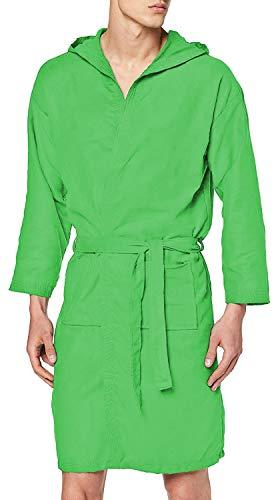 PETTI - Accappatoio, Accappatoio Microfibra, Accappatoio Uomo, Accappatoio Donna, Accappatoio Unisex, Accappatoio con Tasche Cappuccio e Cintura, Verde