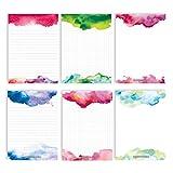 6 Notizblöcke Blanko zur freien Gestaltung | für Termine, Projekte, to do Liste, Meetings,...