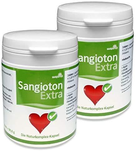 Wellpursan Sangioton Extra mit L-Arginin hochdosiert, 2er Set Nahrungsergänzungsmittel, 240 Kapseln