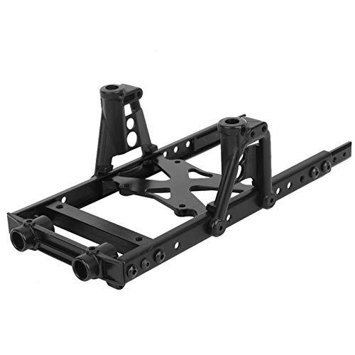 Kit de chasis RC, 6x6 Black Body Chasis Kit de chasis Chasis sobre orugas Ajuste para 1/10 RC Axial SCX10 90046 90047 90027 90028, Ligero y fácil de Transportar
